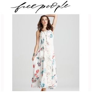 Free People Maxi Battenburg Laced Floral Dress